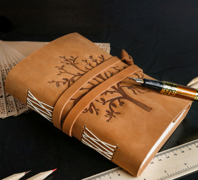 Creative Leather Journal Photography in Rajasthan